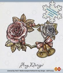 Amy Designs Stamp - Clock with Doves - прозрачни печати 9x7 cm.