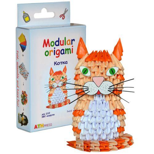 "Комплект Модулно оригами ""Котка"""
