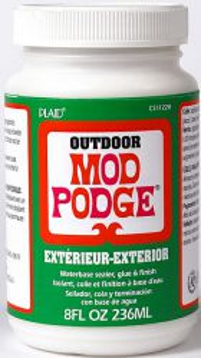 MOD PODGE OUTDOOR, USA - Високо устойчиво лак / лепило за декупаж за външни условия 236 мл.