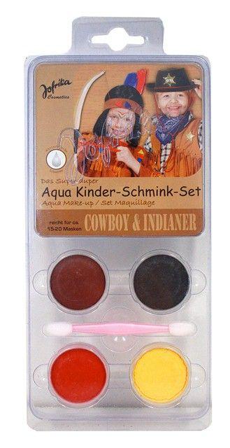 Aqua Make-up set ,Germany  - Комплект бои за лице тяло + четка, COWBOY