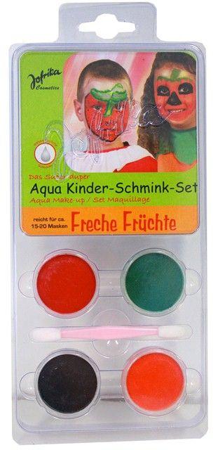 Aqua Make-up set ,Germany  - Комплект бои за лице тяло + четка, FRUITS