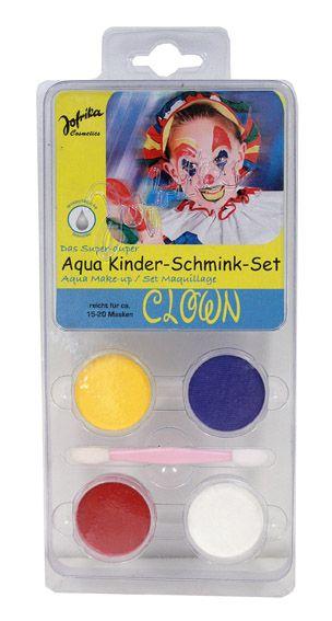 Aqua Make-up set ,Germany  - Комплект бои за лице тяло + четка, CLOWN