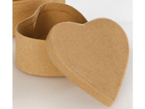 CRAFTBOX HEART - Крафт кутийка за декорация СЪРЦЕ 8,5 х 8 х 4 см