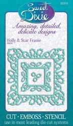 Sweet Dixie Metal Die - ЩАНЦИ 3бр Holly & Star Frame