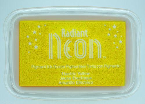 """Radiant NEON """"electric yellow"""" - Тампон с неоново светлоустойчиво мастило"""