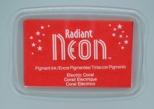"""Radiant NEON """"electric coral"""" - Тампон с неоново светлоустойчиво мастило"""