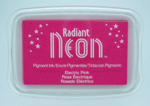 """Radiant NEON """"electric pink"""" - Тампон с неоново светлоустойчиво мастило"""