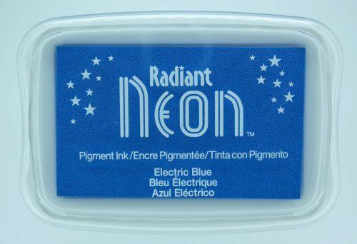 """Radiant NEON """"electric blue"""" - Тампон с неоново светлоустойчиво мастило"""