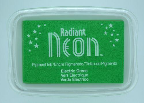 """Radiant NEON """"electric green"""" - Тампон с неоново светлоустойчиво мастило"""