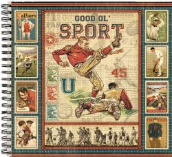 "ALBUM SCRAPBOOKING ""Good Ol' Sport"" - Дизайнерски скрапбукинг албум 36 страници 30,5х30,5 см"