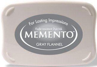 MEMENTO INKPAD - Тампон с ярък отпечатък GRAY FLANNEL