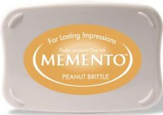 MEMENTO INKPAD - Тампон с ярък отпечатък PEANUT BRITTLE