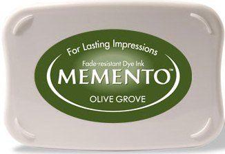 MEMENTO INKPAD - Тампон с ярък отпечатък OLIVE GROVE