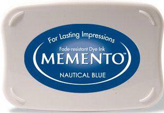 MEMENTO INKPAD -Тампон с ярък отпечатък NAUTICAL BLUE
