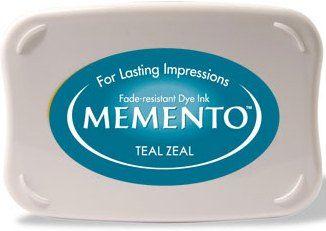 MEMENTO INKPAD - Тампон с ярък отпечатък TEAL ZEAL