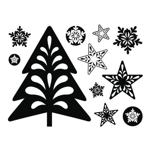 CHRISTMAS by ARTEMIO STAMPS - Дизайнерска колекция печати 7.5Х9.5см.