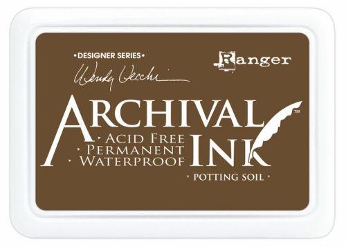 ARCHIVAL INK PAD, USA - Tампон с архивно перманентно мастило, Potting Soil