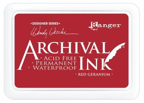 ARCHIVAL INK PAD, USA - Tампон с архивно перманентно мастило, Red Geranium
