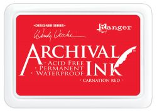 ARCHIVAL INK PAD, USA - Tампон с архивно перманентно мастило, Carnation Red