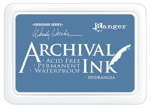 ARCHIVAL INK PAD, USA - Tампон с архивно перманентно мастило, Hydrangea