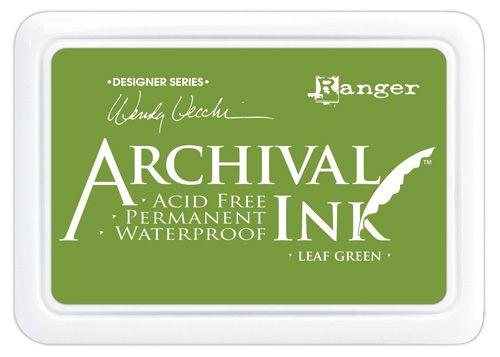 ARCHIVAL INK PAD, USA - Tампон с архивно перманентно мастило, Leaf Green