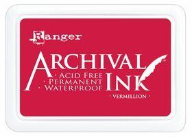ARCHIVAL INK PAD, USA - Tампон с архивно перманентно мастило, Vermillion