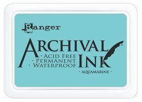 ARCHIVAL INK PAD, USA - Tампон с архивно перманентно мастило, Aquamarine