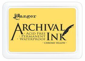 ARCHIVAL INK PAD, USA - Tампон с архивно перманентно мастило, Chrome Yellow