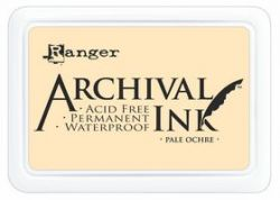 ARCHIVAL INK PAD, USA - Tампон с архивно перманентно мастило, Pale Ochre