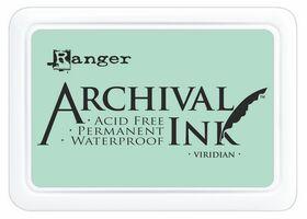 ARCHIVAL INK PAD, USA - Tампон с архивно перманентно мастило, Viridian