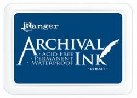 ARCHIVAL INK PAD, USA - Tампон с архивно перманентно мастило, Cobalt