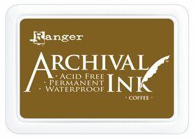 ARCHIVAL INK PAD, USA - Tампон с архивно перманентно мастило, Coffee