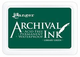 ARCHIVAL INK PAD, USA - Tампон с архивно перманентно мастило, Library Green
