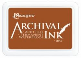 ARCHIVAL INK PAD, USA - Tампон с архивно перманентно мастило, Sepia