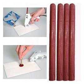 ARTEMIO WAX 7mm  - Восък пръчки за печат 4 бр CHRISTMAS RED