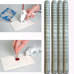 ARTEMIO WAX - Восък пръчки за печат 4 бр. - SILVER