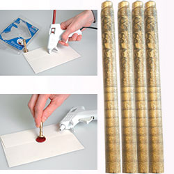 ARTEMIO WAX 7mm - Восък пръчки за печат 4 бр ANTIQUE GOLD