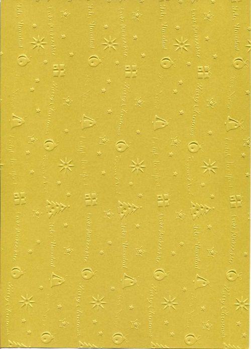 "FB EMBOSS CARD - Преге картон 230гр ""КОЛЕДНИ МОТИВИ"" 50х70см - Злато"