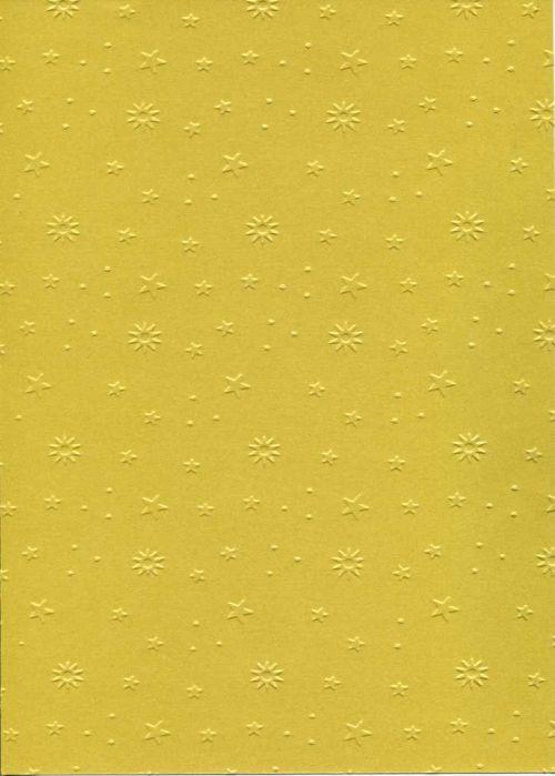 "FB EMBOSS CARD - Преге картон 230гр ""ЗВЕЗДИЧКИ"" 50х70см - Злато"