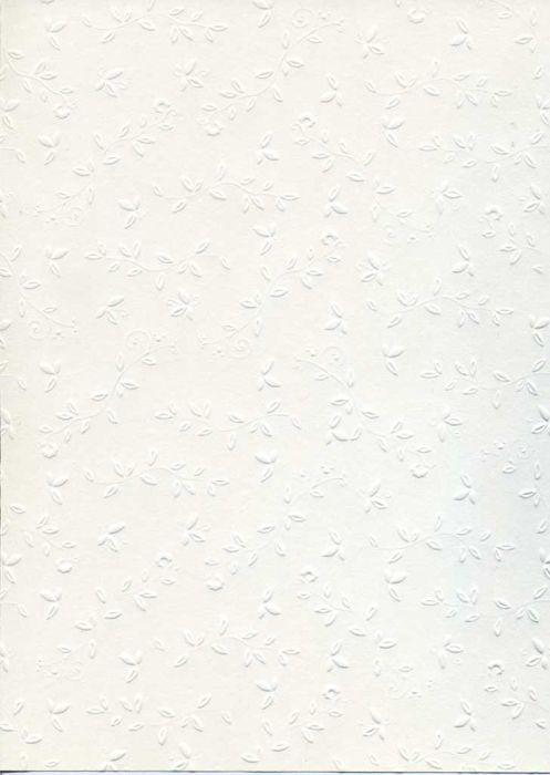 "FB EMBOSS CARD - Преге картон 230гр ""ОРНАМЕНТИ"" 50х70см - БЯЛО"