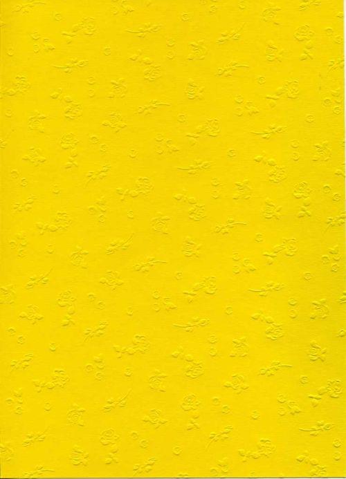 """FB EMBOSS CARD - Преге картон 230гр""""РОЗИ"""" 50х70см - Слънчево жълто"""