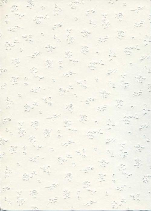 "FB EMBOSS CARD - Преге картон 230гр ""РОЗИ"" 50х70см - БЯЛО"