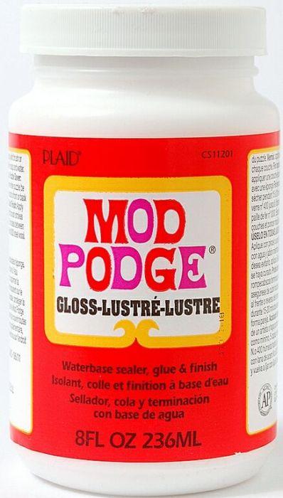 """MOD PODGE GLOSS, USA - ЛАК / лепило за колажи """"гланц"""" 236 мл."""