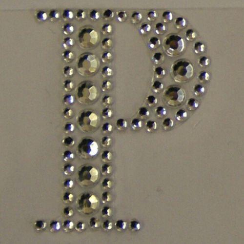 Sticker Crystal  `P`  - Кристални стикери 3х4 см.