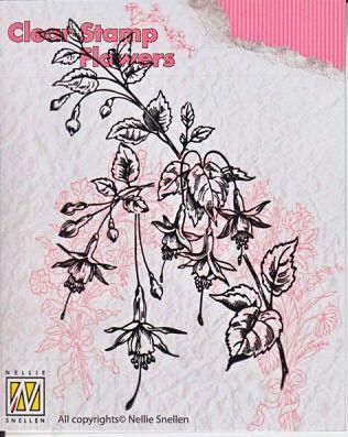 Nellie Snellen, Stamps Flowers  - Дизайн прозрачен печат, FLO008