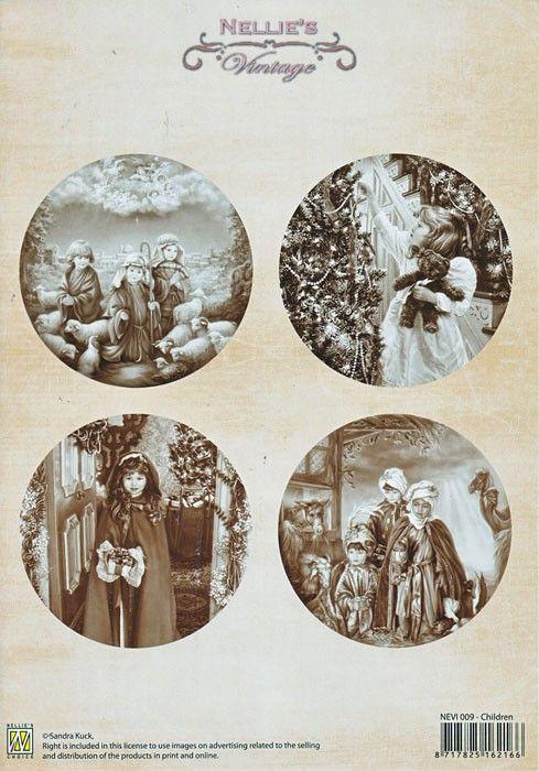 A4 DECOUPAGE Christmas Vintage  - АРТ декупажна хартия / 009