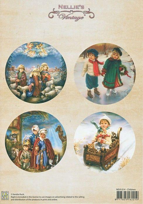 A4 DECOUPAGE Christmas Vintage  - АРТ декупажна хартия / 014