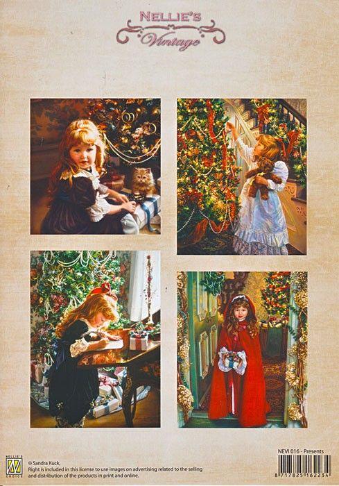 A4 DECOUPAGE Christmas Vintage  - АРТ декупажна хартия / 016