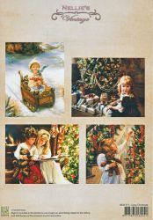 A4 DECOUPAGE Christmas Vintage  - АРТ декупажна хартия / 017