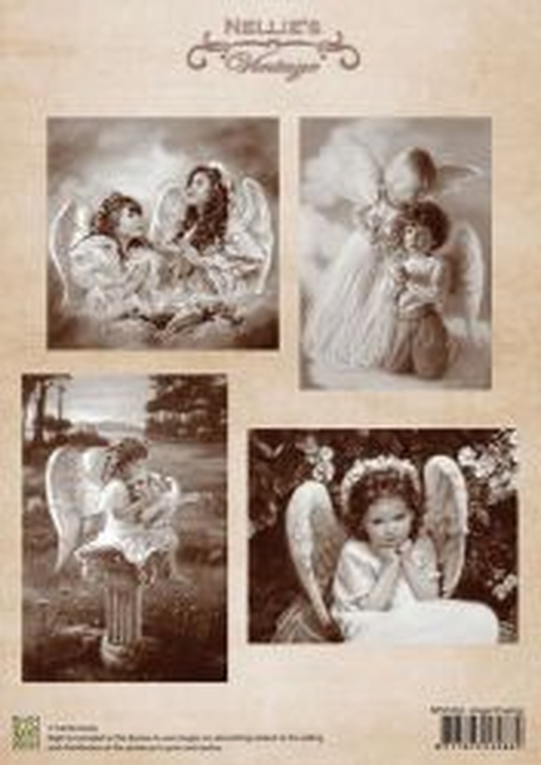 A4 DECOUPAGE Vintage  - АРТ декупажна хартия / 042